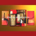 venta al por mayor geométrica pintado a mano moderno de acrílico pintura abstracta grupo