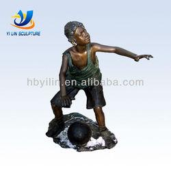 Bronze Basketball Player Children Sculpture Brass Statue For Sale H121cm W91cm L61cm