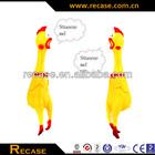 Shrilling Scream Squeeze Plastic Chicken Toy