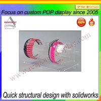 custom acrylic hair bow stand factory supplies hair bow display rack