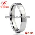 6mm vogue hermosa brillante facetas confort fit de tungsteno anillos de boda