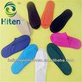 Colorido suave desechables zapatillas de viaje con anti- deslizamiento suela