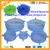 6pcs Per Set High Stretch Silicone Lids For Cups OEM Manufacturers
