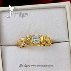 Real gold plated wedding diamond ring Jmiya18KRGPR285