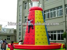 HI EN14960 0.55mmPVC funny crazy game inflatable wall climbing man