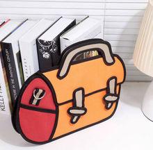 New 2D Drawing 3D Jump Handbag Shoulder Canvas From Cartoon Paper Messenger Bag