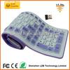 Wholesale mini portable 2.4G silicone roll-up keyboard,wireless bluetooth super slim keyboard
