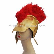 Venta al por mayor divertida fiesta loca de carnaval de lujo esparta guerrero medieval romano casco mh-1836 sombrero