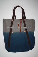 2014 New fantasy dip-dye canvas shopping bags beach bag wholesale