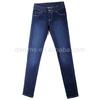 CWL-2455 women high waist jeans medium blue enzyme wash