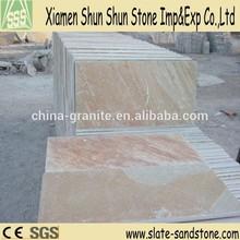 Chinese yellow slate floor tiles for paving