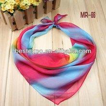 Yiwu factory fashion color chiffon face cloth wholesale