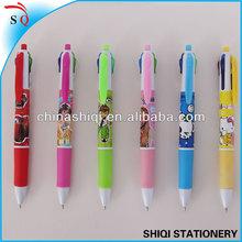 cheap set gift plastic multi-color ball point pen