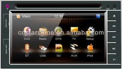 with GPS/VCD/MP3/WMA/CD-R/JPGE/Bluetooth 2 din car audio cheap