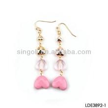 Heart to heart earring long chain hook earring ebay china