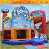 Children love commercial combo,inflatable moonwalk house