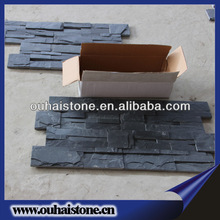 Carton box safe package natural black color culture slate stone tiles for walls