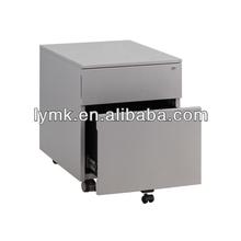 2 drawer under table cabinet,steel mobile pedestal cabinet