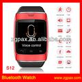 Bluetooth android elegante reloj, venta al por mayor de china teléfonos reloj enemigo de su elección