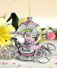 music box crystal wedding gift princess carriage 100mm snow globe