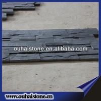Export standard constructional black claddings culture stone rough slate wall tile