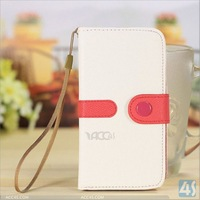 For samsung galaxy s4 i9500 newest handbag pu leather phone wallet pouch case mobile phone accessory
