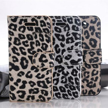 For iPhone 5 5G noble Leopard Wallet Leather Case with Credit Card Holder