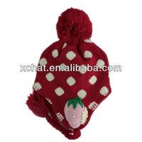 winter knitted black ski mask hat knitting pattern 2014 Sweet pom pom adult crochet earflap hat earflap hat crochet pattern