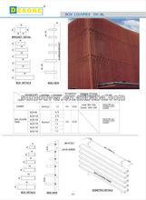 Aluminum window shutter/solar shutter