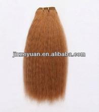 Best Quality Brazilian Yaki Hair Weft Orange Color