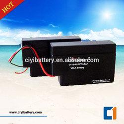 Maintenance Free Battery Valve Regulated Sealed Lead Acid Battery 12V 0.8AH