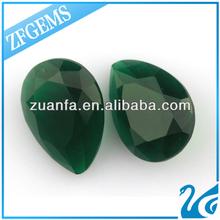 jade teardrop beads large glass stone for jewelry