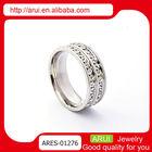 Fashion joyas pave setting diamond vintage wedding rings hot sale