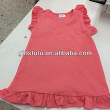 Wholesale boutique designer child dress summer watermelon red cotton baby pettidress cute toddler ruffle sleeveless dress