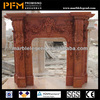 Luxury decorative 100% hand-craved natural marble european gas fireplace