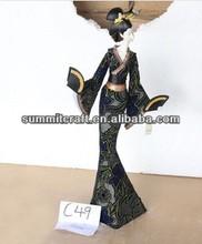 Fresh Kimono Japanese girl fashion 2014 beauty sexy girl figurine resin ornament