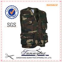 Men Sleeveless multi pocket camouflage fishing vest