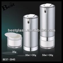 round pump acrylic jars bottle , silver pump acrylic jars bottle , 50ml+30g pump acrylic jars bottle