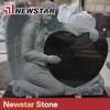 Hot selling shanxi black granite heart gravestone