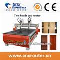 cx1325 de madera tallada bastónes senderismo del fabricante de china con dos cabezas