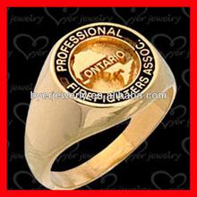 Nice Design Signet Ring Rose Gold Color