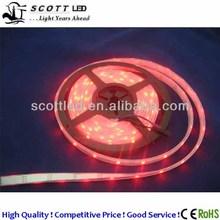 ws2812b 5 volt input luminous led tape light, ip67 waterproof, 5050smd rgb, 10mm white pcb, 30leds/m, CE RoHs