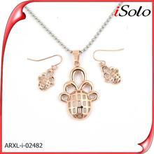 Fashion jewelry casting jewelry designs 2014 indian pink world imitation jewelry set