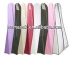 free sample custom logo wedding dress garment bag wholesale ,wedding dress bag, party gown bag with pocket