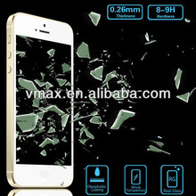 Manufacturer Price 0.26mm 9H Glass screen protector for iPhone 5/5c/5s oem/odm (Glass Shield)