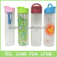 Cut shape Christmas Eco-lovely design glass water bottle