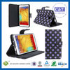 C&T Purple dot design pu leather case for galaxy note 3