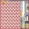 Blood Red Pray Symbol Bathroom African Print Curtain