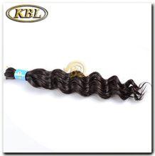 Raw unprocessed jerry curl bulk hair for braiding