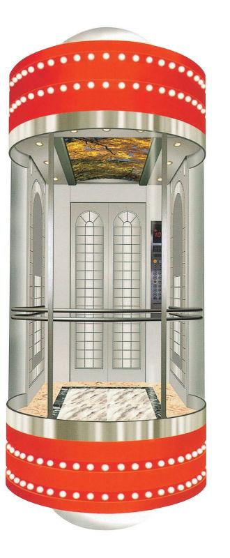 800kg Glass Passenger Lift Cheap Residential Lift Elevator